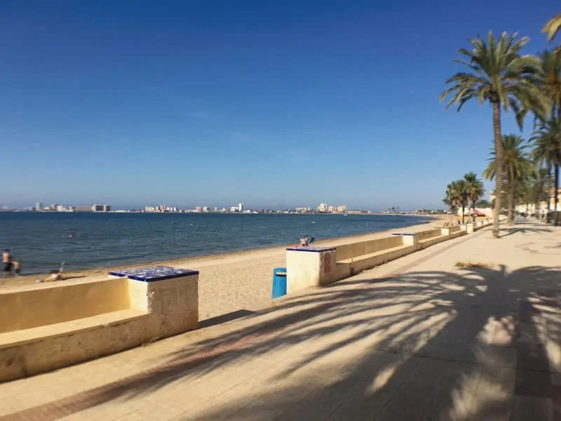 Seaside promenade outside building (facing La Manga)