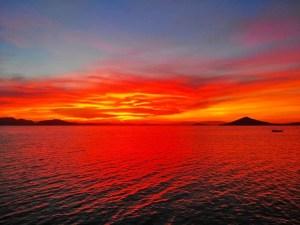 Red sky in Playa Honda