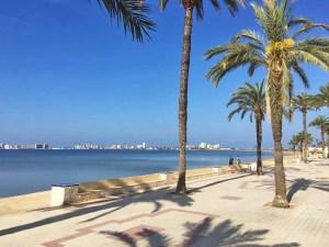 Sunny day at the seaside promenade in Playa Honda