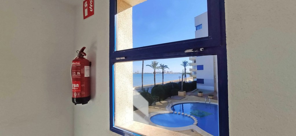 Fire extinguishers provided in stairways