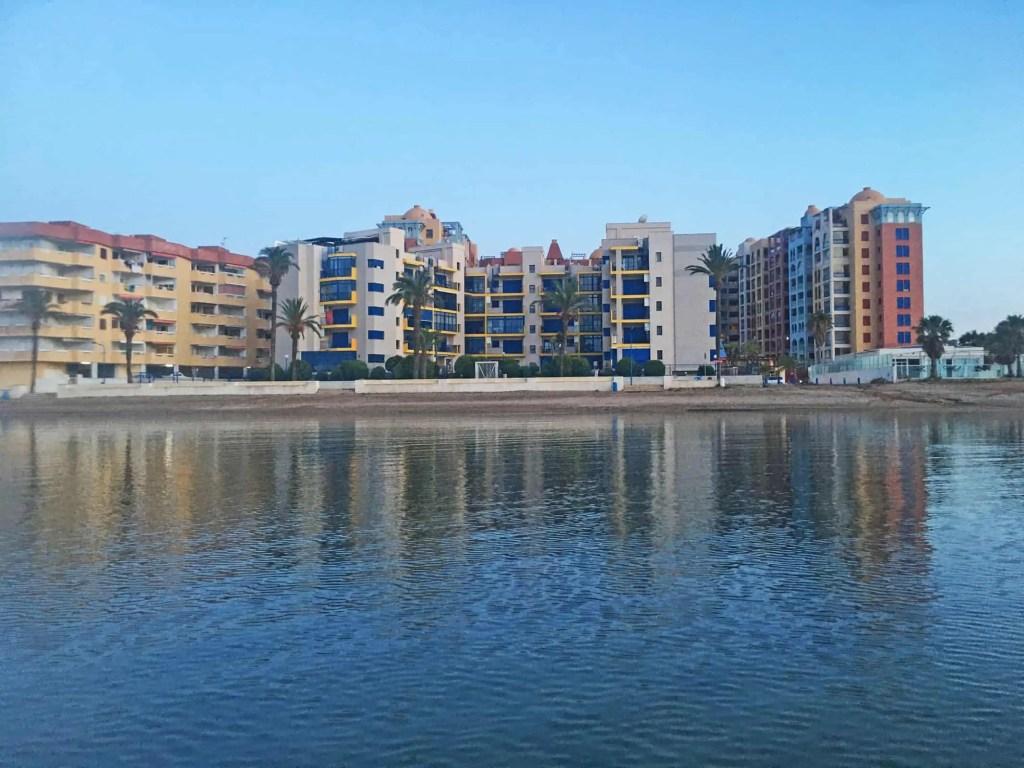 Playa Honda Verdemar 2 building from the water