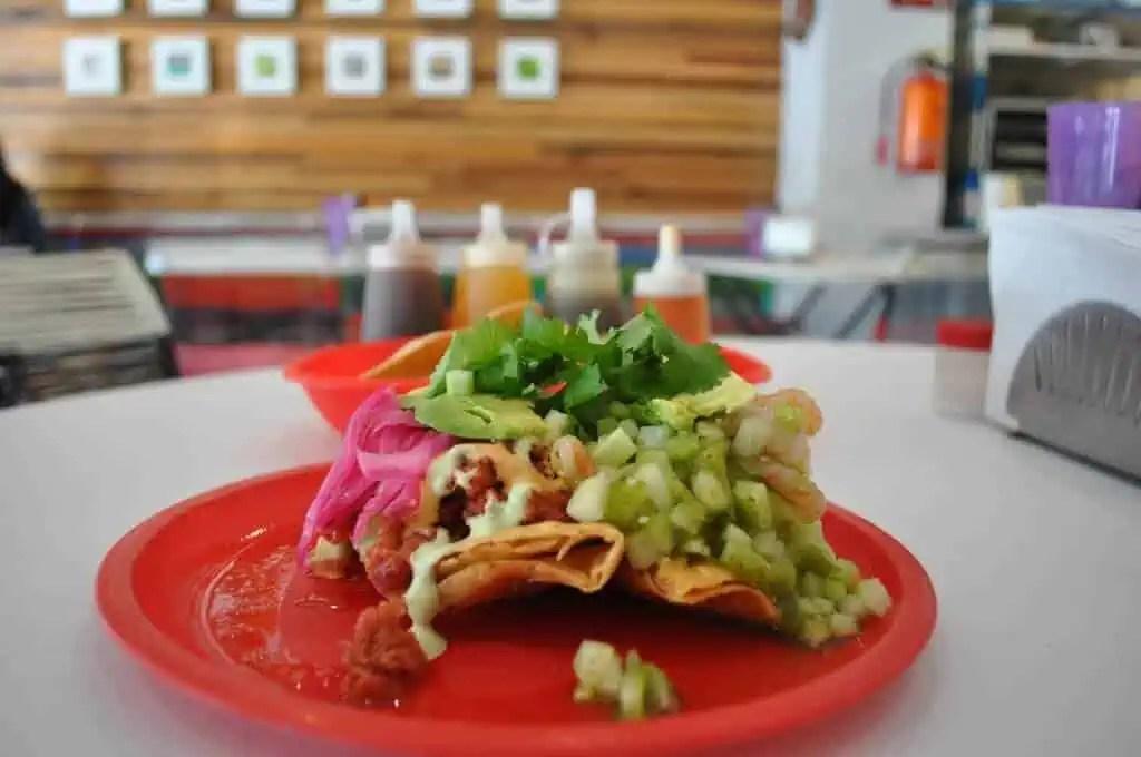 Puerco Espada Tacos Dorados con Ceviche, Guadalajara, Mexico