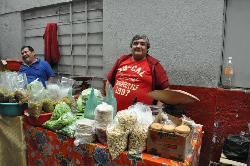 Small retail vendor in mercado de abastos, Guadalajara