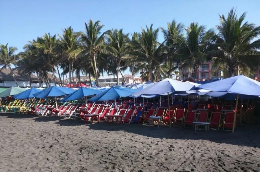 Enremada restaurant on the beach in Cuyutlan, Colima