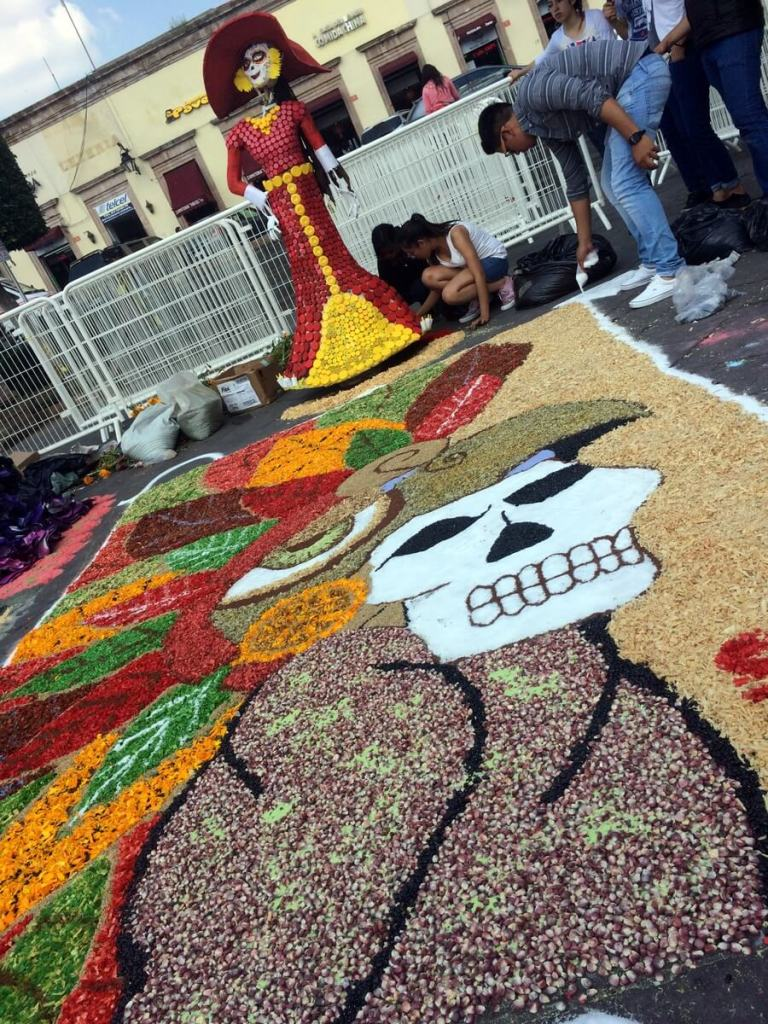 Day of the Dead artwork in Michoacan
