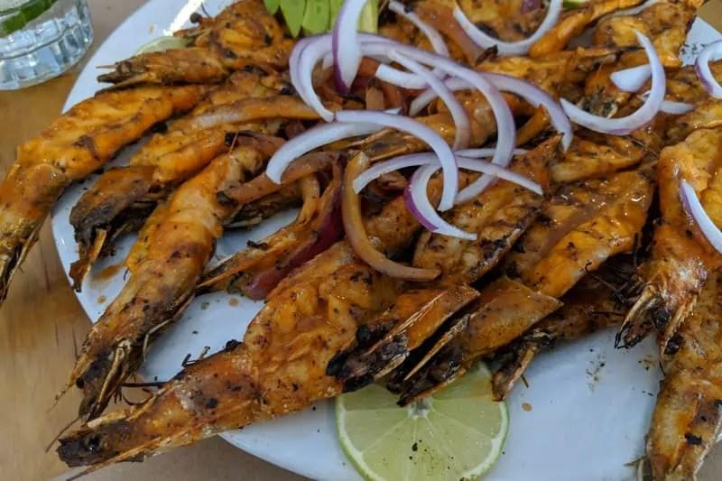 Shrimp Zarandeado at Campomar Guadalajara