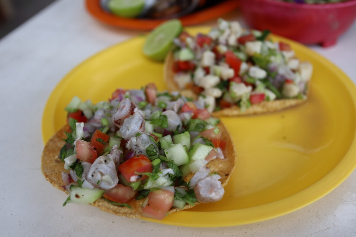 Shrimp ceviche Mexican seafood classic