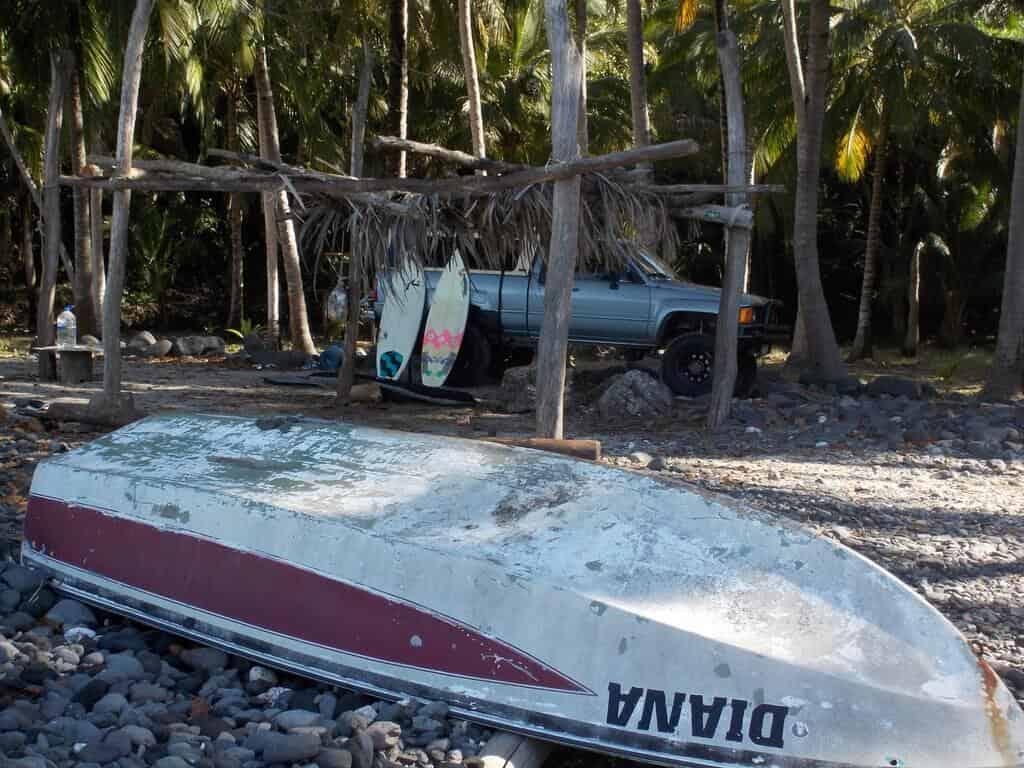 4 Wheel drive camping at playa Chacala, Nayarit