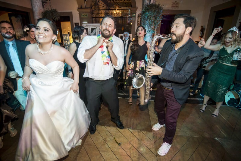The band Trioker was raging at this Mexican destination wedding