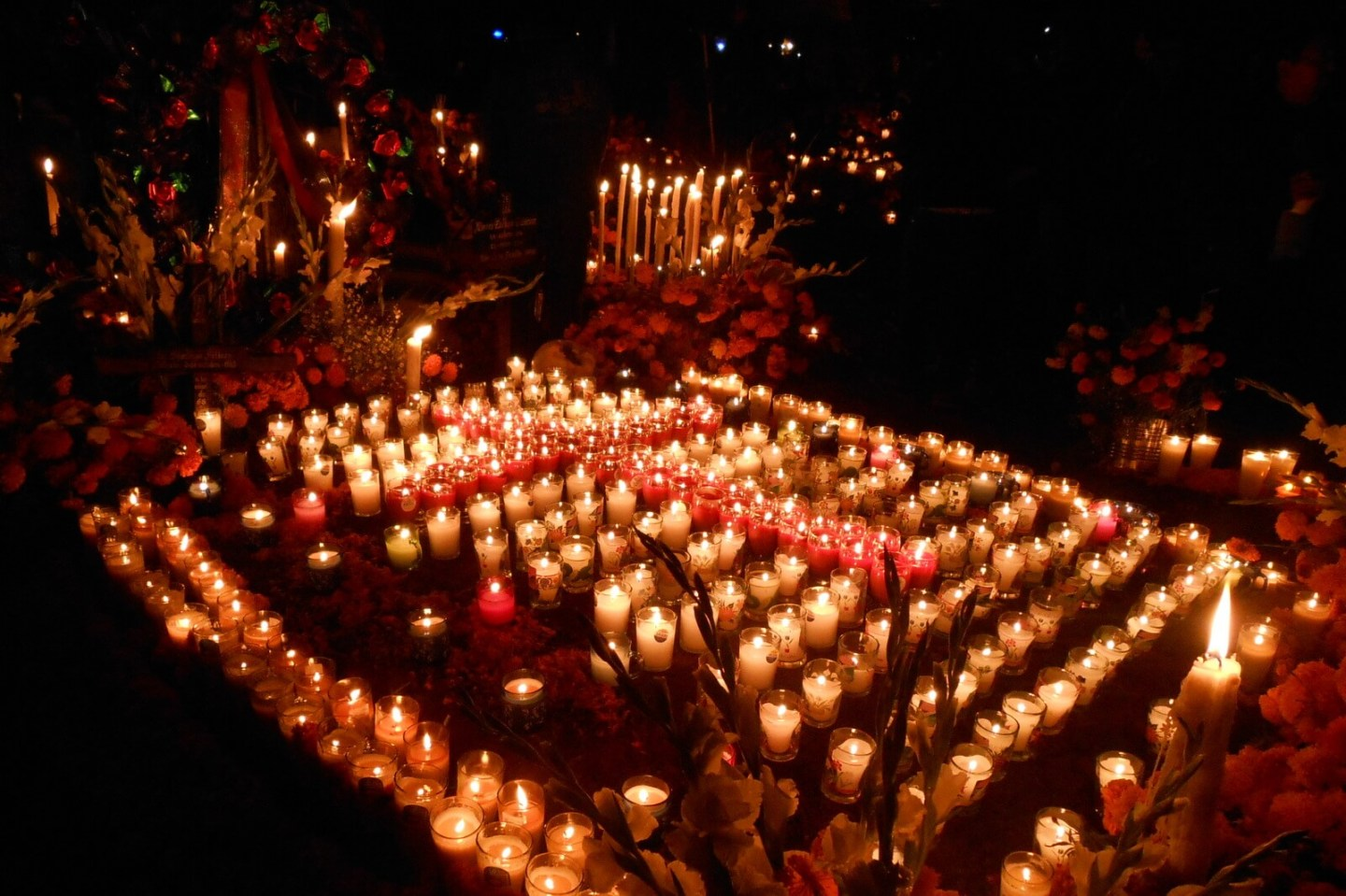 Day of the Dead Cemetery in Michoacan