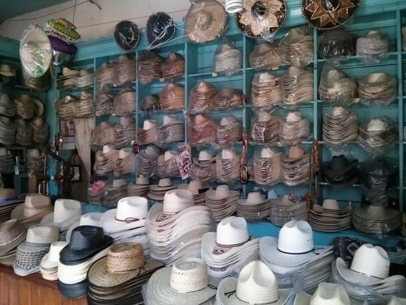 Mexican sombrereos in Zitacuaro, Michoacan