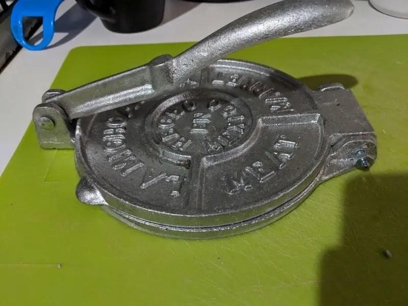 tortilla press souvenir from Mexico