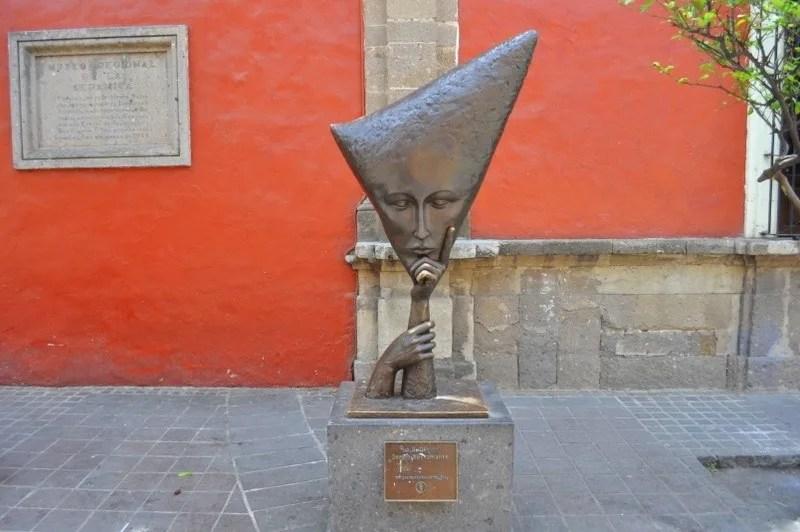 Sergio Bustamante statue in Tlaquepaque Jalisco