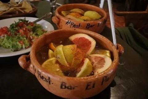 Cantarito cocktail at the Parian de Tlaquepaque Jalisco
