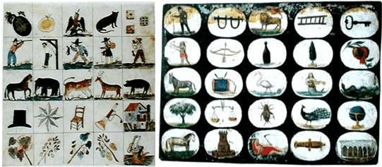 Symbols of Mexican Bingo