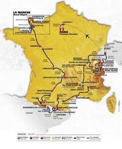 Tour de France 2016 Route Map