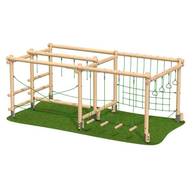 large activity frame, Playcubed, Valley Provincial, Primary school playground, recreation area, playground installation, playground construction, bespoke playground design, playground landscaping, inclusive play