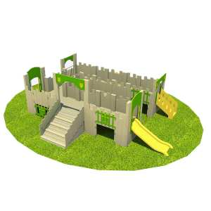 castle, Playcubed, Valley Provincial, Primary school playground, playground installation, playground construction, bespoke playground design, themed play area, playground equipment