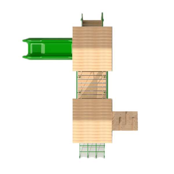double deck tower, Playcubed, Valley Provincial, Primary school playground, recreation area, playground installation, playground construction, bespoke playground design, playground landscaping, playground activity frame
