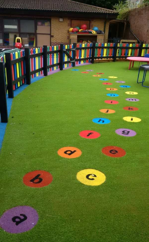 literacy circle, Playcubed, Valley Provincial, Primary school playground, playground installation, playground construction, bespoke playground design, playground equipment, sensory play area, educational play