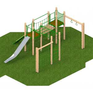 sherwood tower, Playcubed, Valley Provincial, Primary school playground, recreation area, playground installation, playground construction, bespoke playground design, playground landscaping, playground activity frame