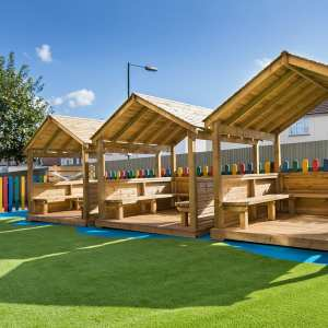 Playcubed, Valley Provincial, Primary school playground, study hut, outdoor learning, outdoor education equipment, study hut construction, school play areas,
