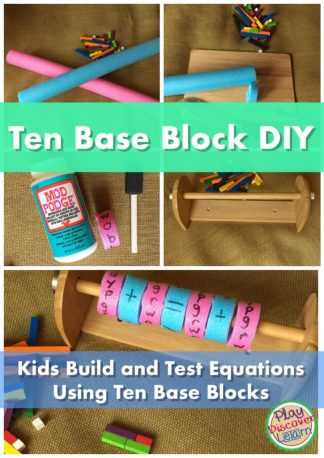 An easy Math DIY for addition, subtraction and More.