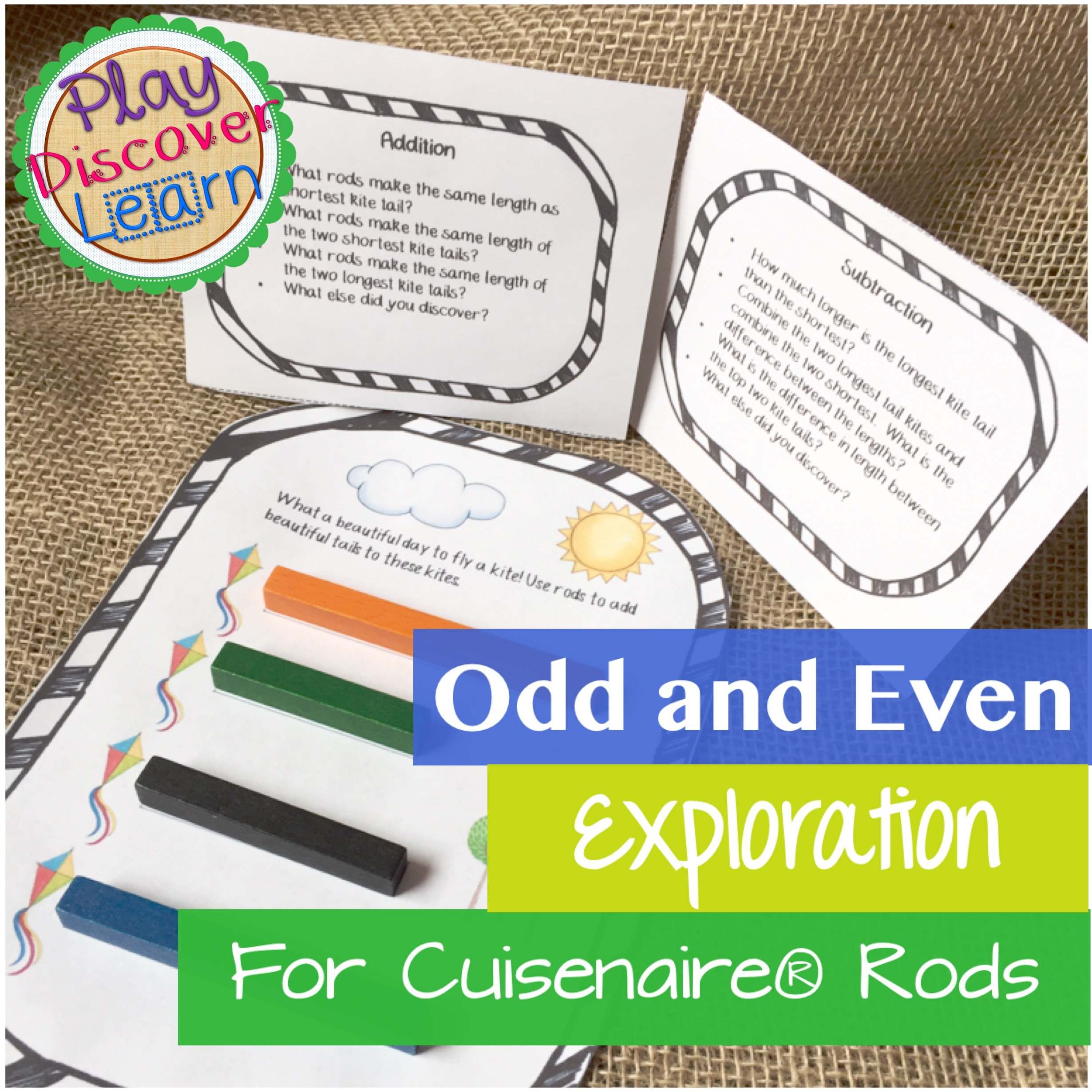 odd and even exploration for cuisenaire rods
