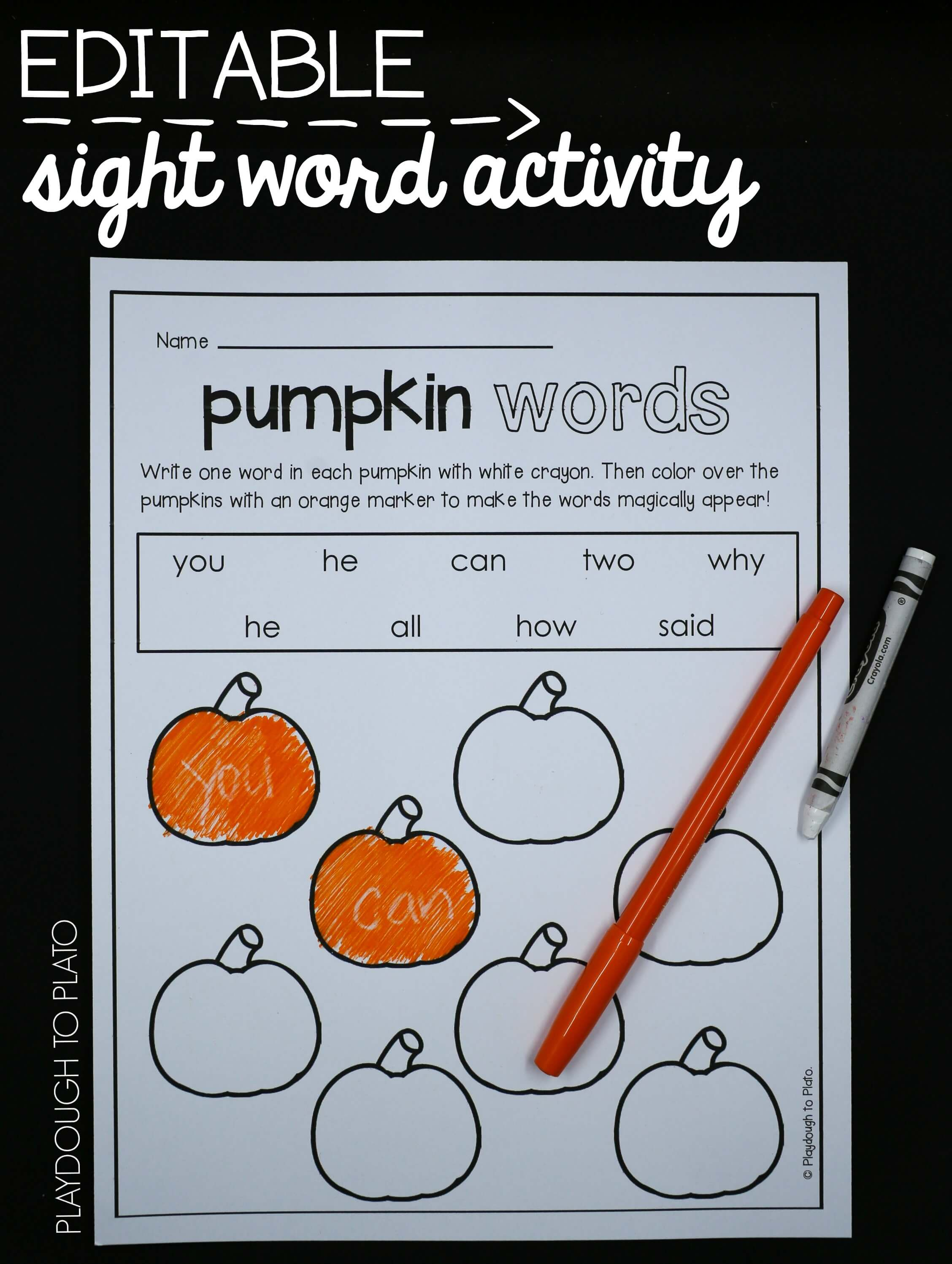 Pumpkin Activity Pack