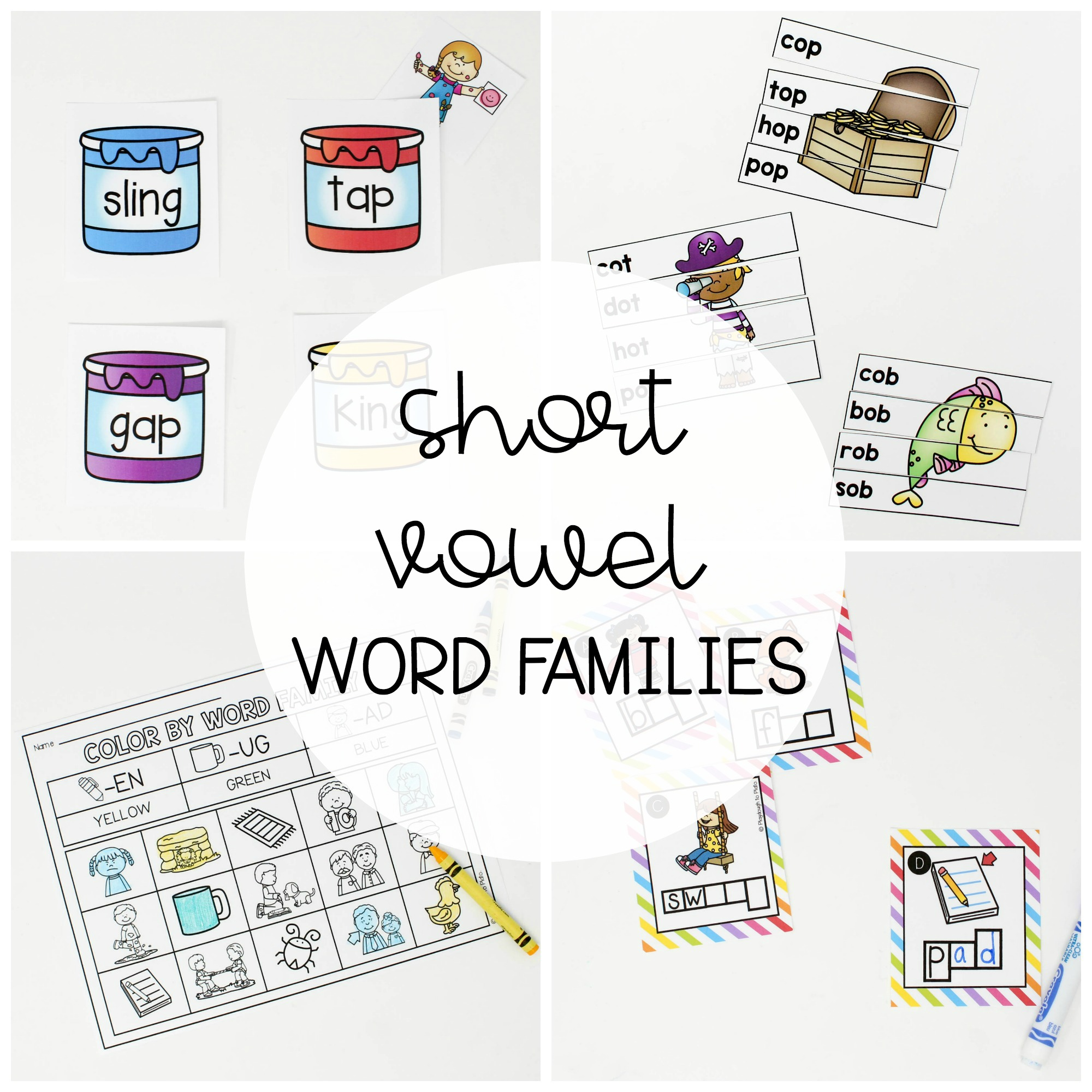 Short Vowel Word Family Centers