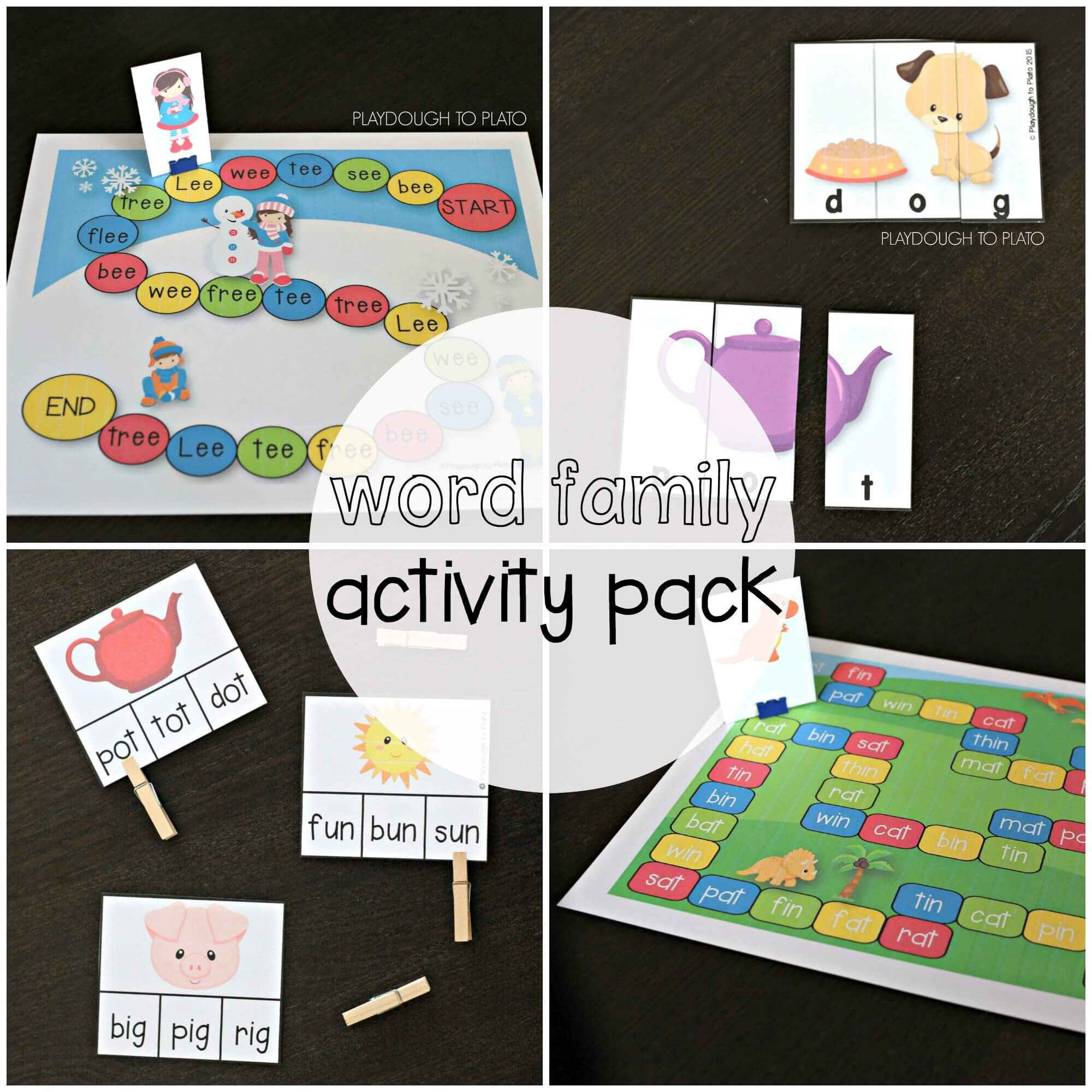 Word Family Activity Pack