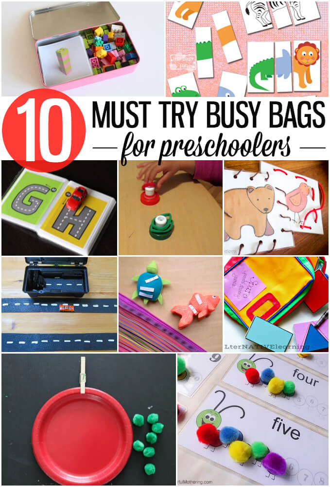 10 Must Try Busy Bags for Preschoolers