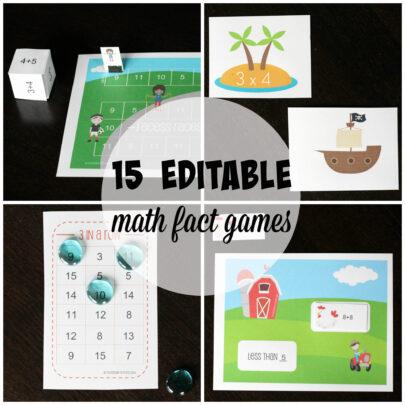 15 uber motivating math fact games. {Playdough to Plato}