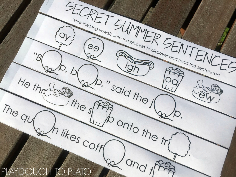 16 Secret Long Vowel Sentences For Summer