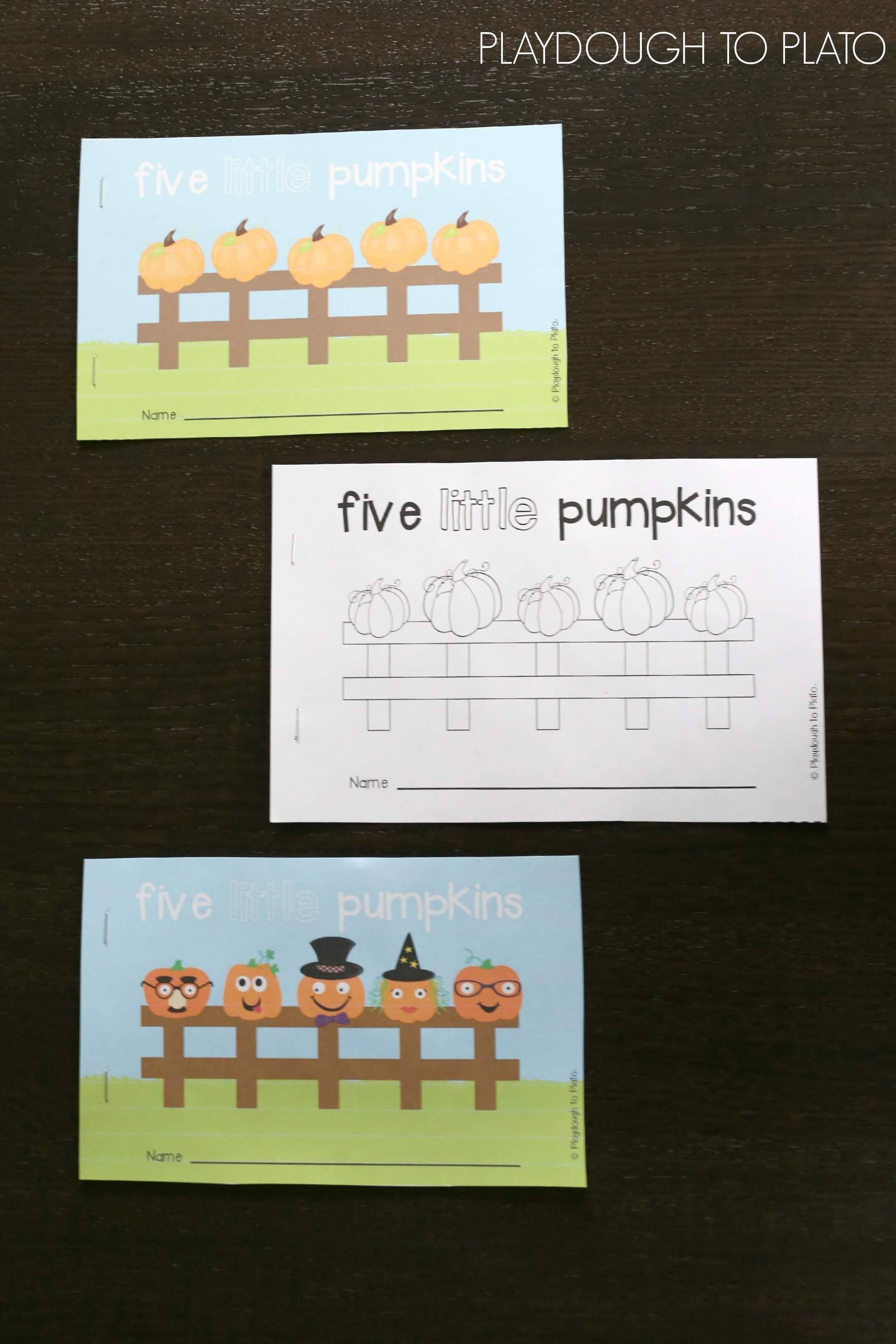 5 Little Pumpkins Activity Packet
