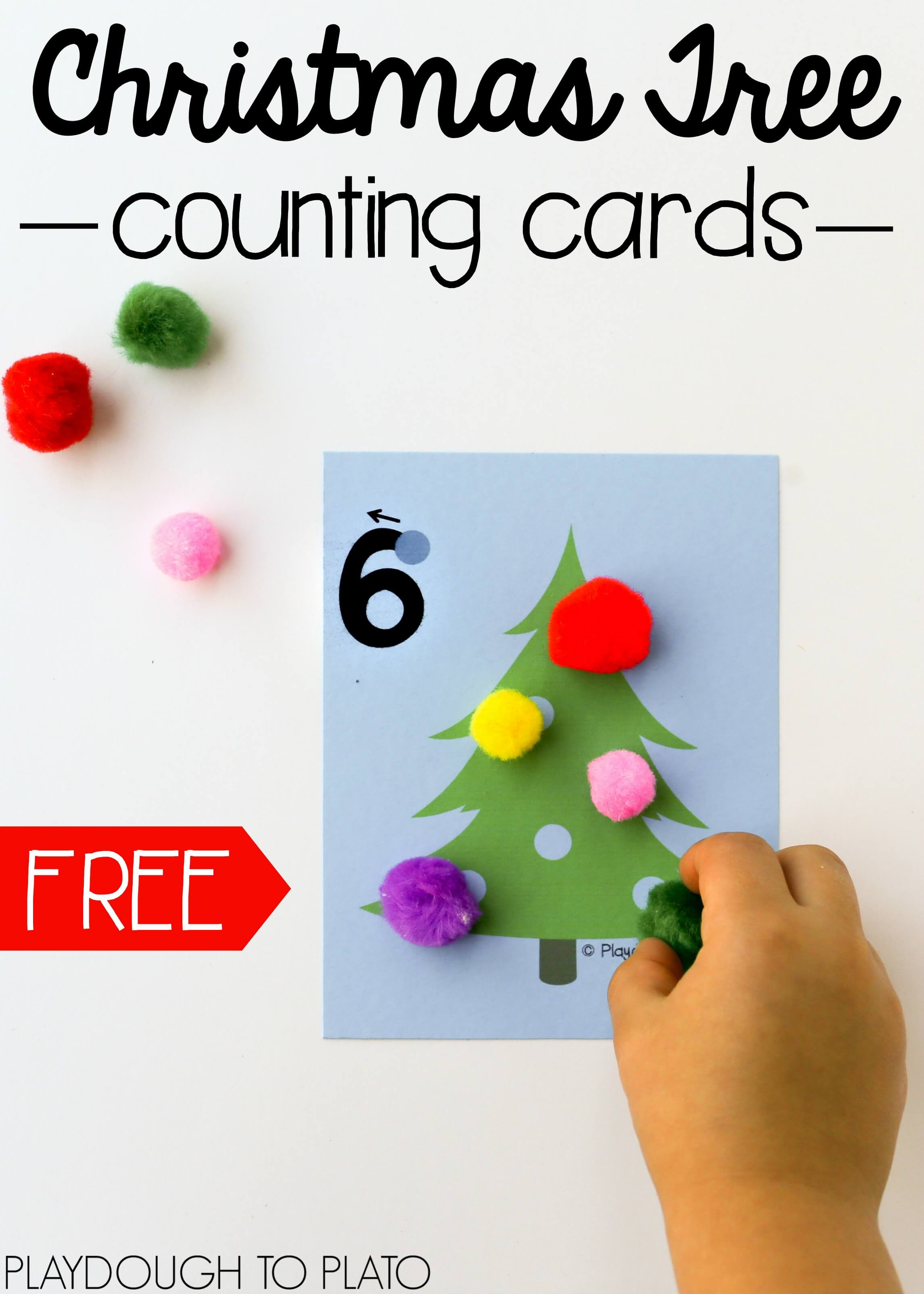Christmas Tree Counting Cards
