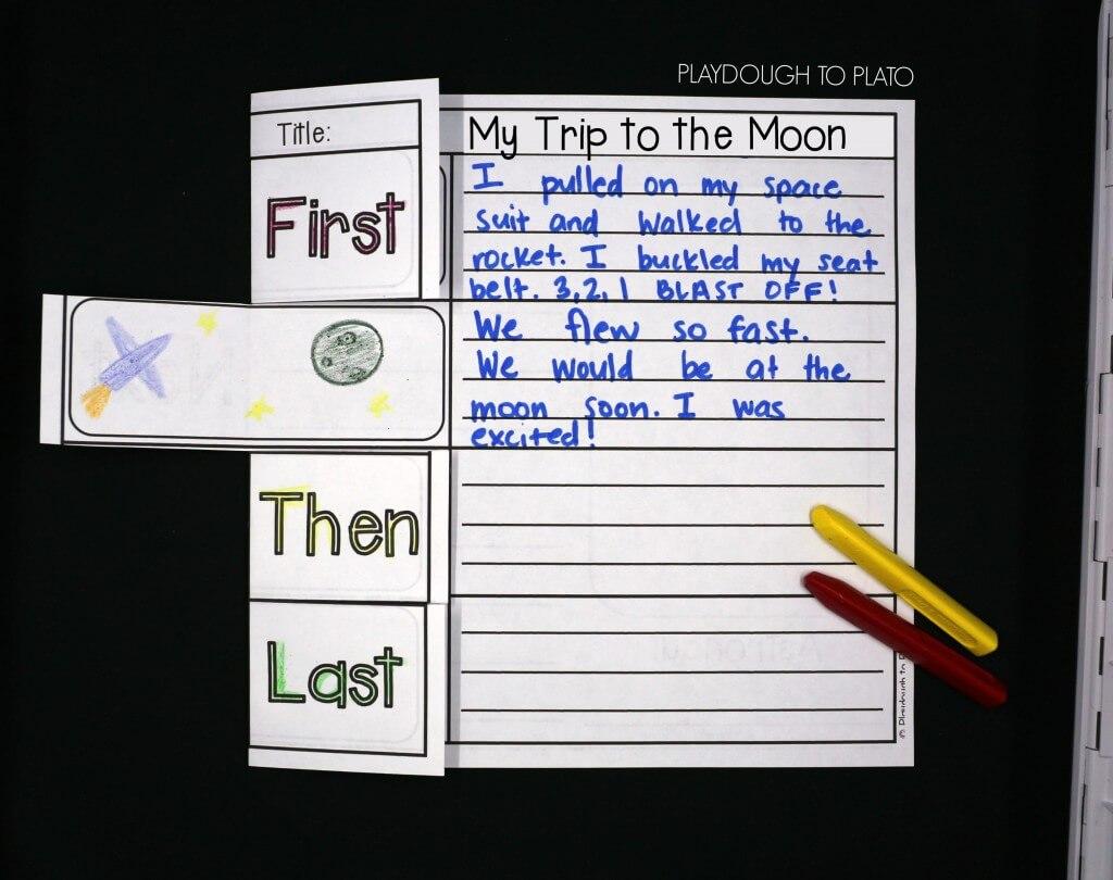Space Writing Worksheet