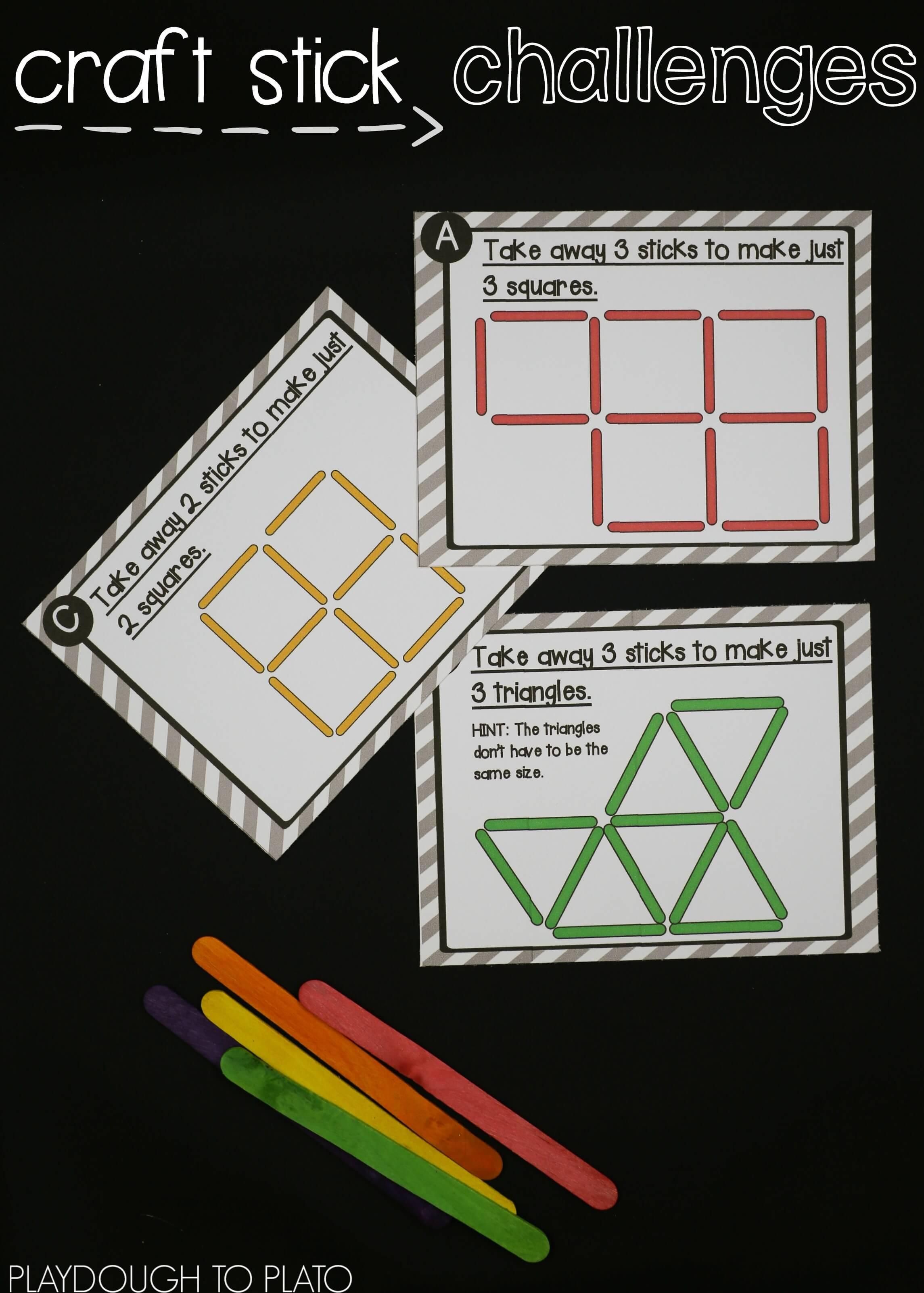Stem Challenge Craft Stick Puzzles