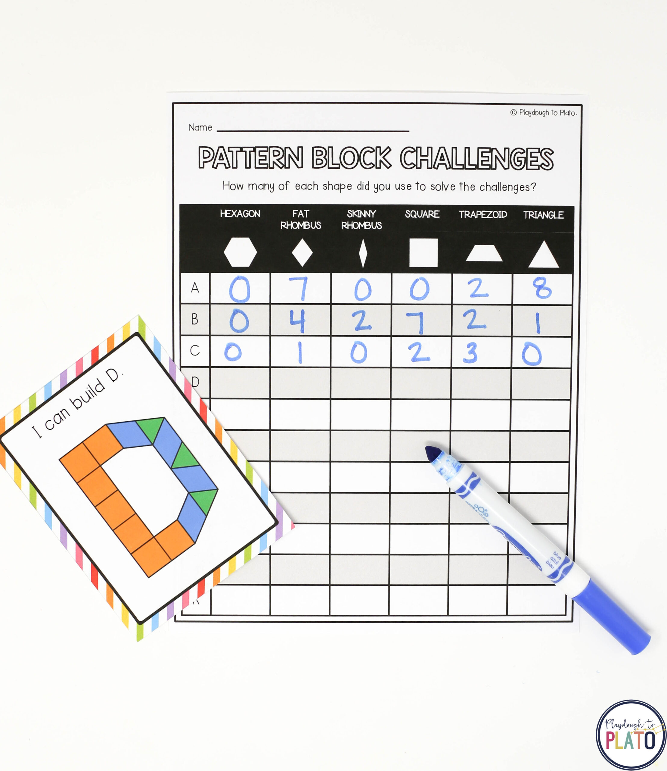 Pattern Block Letters And Numbers