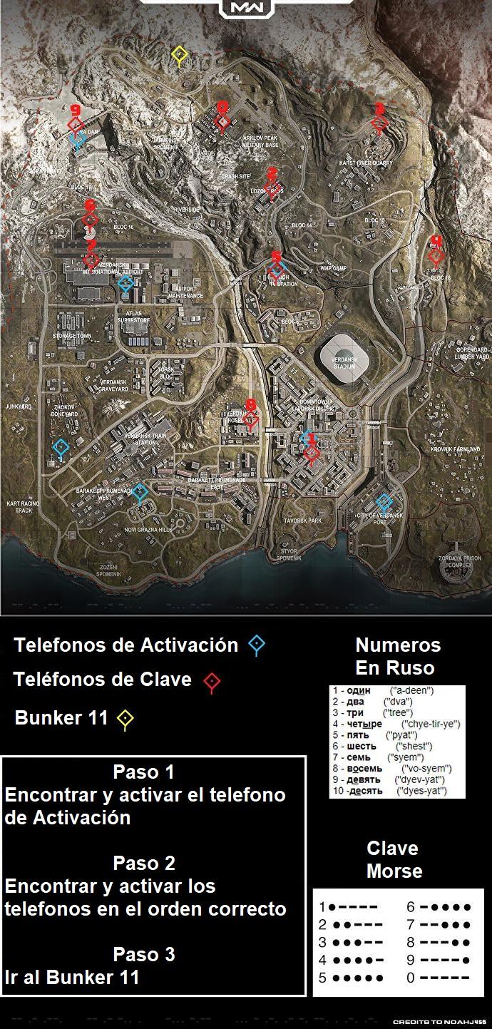 Cod-Bunkers-Bunker11 Ubicaciones Cómo abrir Bunker