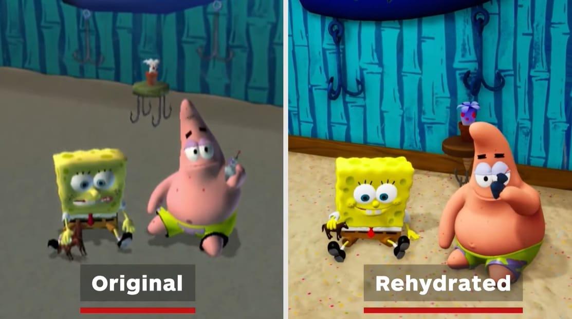 Bob Esponja Battle For bikini bottom Rehydrated original vs remaster