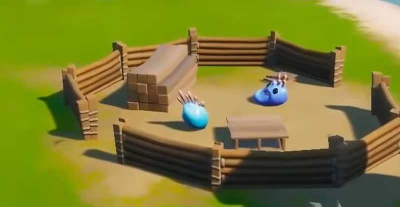 Fornite - Desafío Edad de la Madera - Mini Campamento