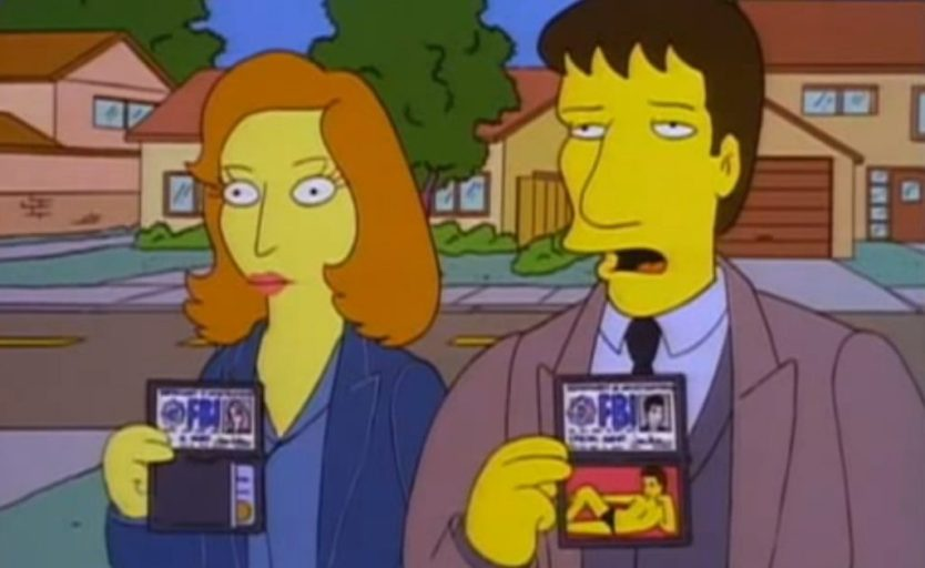 the simpsons x-files