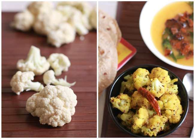 Cauliflower cooked in Five Spices 3