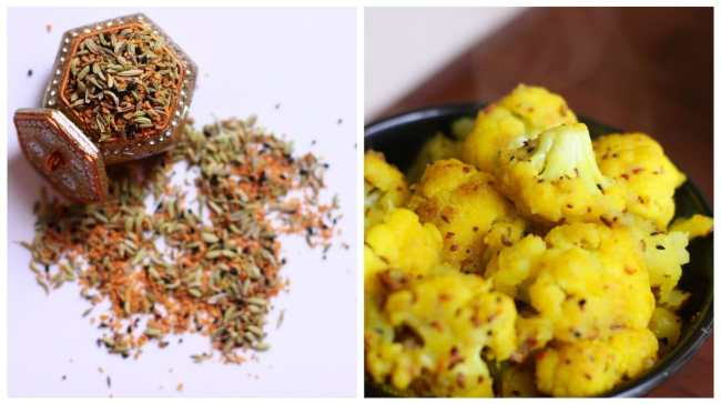 Cauliflower cooked in Five Spices 1