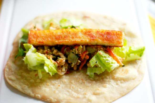 Paneer/Indian Cottage Cheese Wrap 4