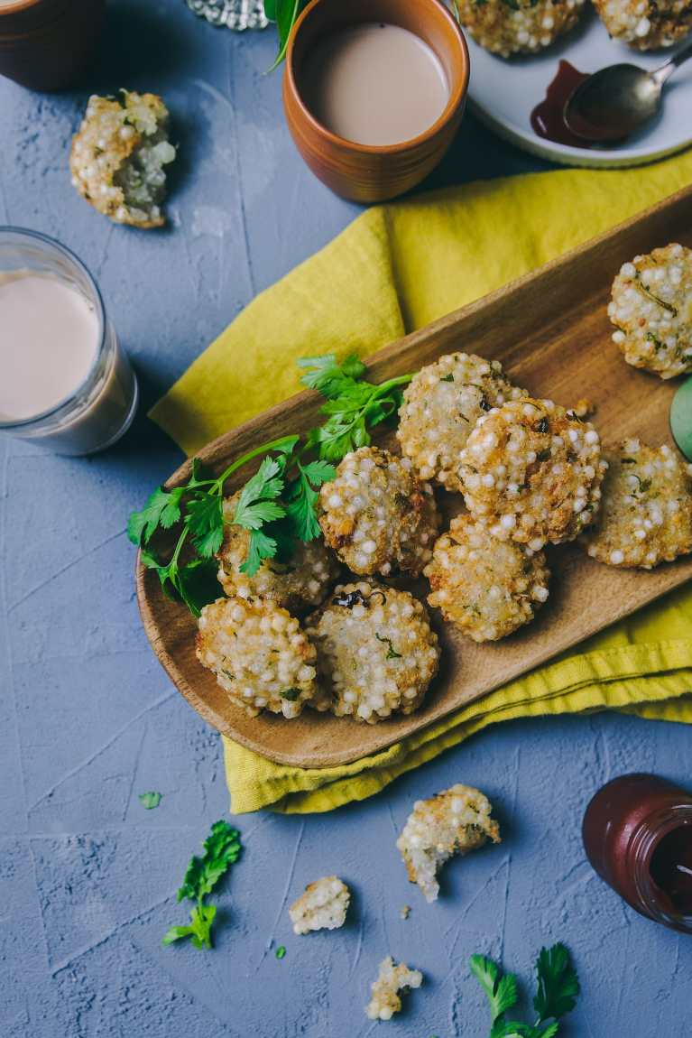 Sabudana Vada Fried and Baked #sabudana #fingerfood #glutenfree #vegan #navratri #foodphotography