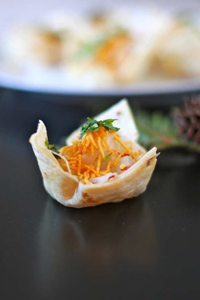 Tortilla Cups with Tangy Filling 3