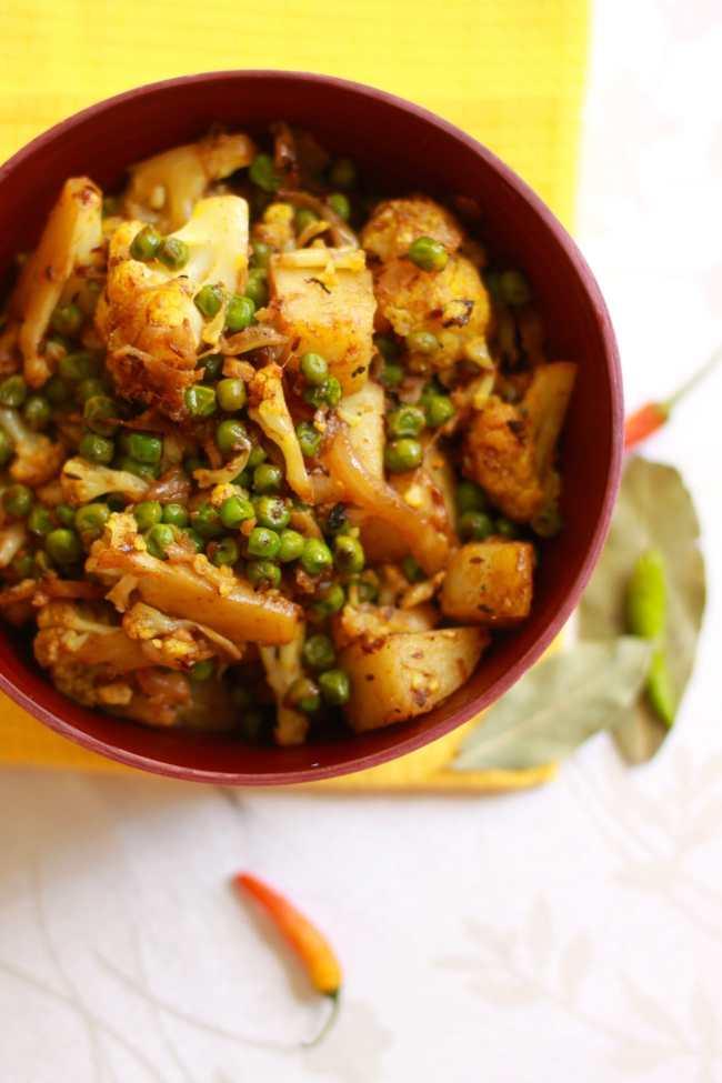 Gobi Matar/Cauliflower cooked with Peas 2