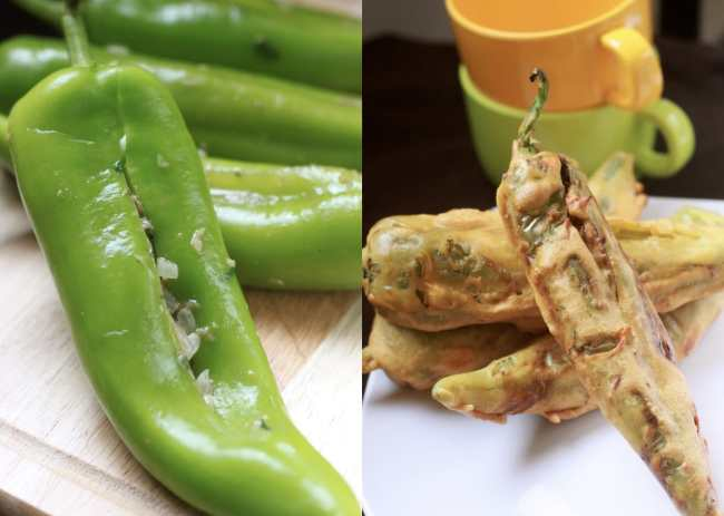 Chilly Bhajji / Deep Fried Peppers 2